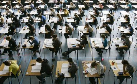 Photo of students in an exam in Oxford